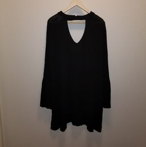 Mossimo Supply Co Shift Swing Dress Bell Sleeve XL
